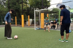 ブラインドサッカー体験